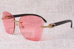 Lunettes de soleil en gros de mode de lunettes de soleil de diamant de Frameless T8100905 Meilleur lunettes de soleil Taille de lunettes: 58-18-140mm à partir de meilleures lunettes de soleil gros fabricateur