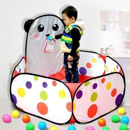 Wholesale Indoor Children Kid Game Baby Toys Panda Toy Tent Outdoor Portable Ocean Ball Pit Pool Children s Tent House Hut basketball hoop
