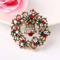 Wholesale christmas brooch new set auger alloy arnaments Europe