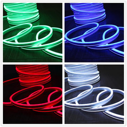 hot sale 50m spool 11x19mm Flat neon flex ultra thin led neon lights rope PVC tube light 220V 110V IP67 for outdoor