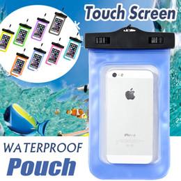 2016 écran tactile pour samsung Sac imperméable universel de plongée de poche étanche de poche de cou d'écran tactile pour l'iPhone 7 plus le bord libre de la galaxie S7 6S 6S libèrent le bateau écran tactile pour samsung autorisation