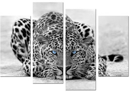 Wholesale LK404 Panel Big Cat Paintings On Canvas Wall Art Print On Canvas Animal Wall Decor For Home Resturant Kitchen Hotel Sitting Room Bed Room