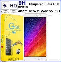 Acheter en ligne Écrans 4s-Pour le protecteur d'écran en verre trempé Xiaomi Mi5 Mi5S Plus Note Note2 Mix 4S 4 4I 4C 9H Dureté Film de verre Premium 0.3mm