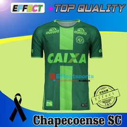 Wholesale 2016 Chapecoense AF camisa de futebol brasil club CAMISETAS FUTBOL Commemorative thai quality soccer jersey Maillot Third Green shirts