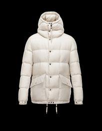 Франция человек для продажи-Зимняя куртка мужская вышивка бренд 2016 Франция бренд логотип M мужской утка пуховик пальто jaqueta masculina белая утка вниз пальто