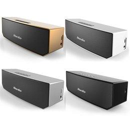 Wholesale Bluedio BS Portable Bluetooth speaker wireless Subwoofer Soundbar Revolution Magnetic driver D stereo music with retail box