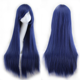 Descuento resistente para el cabello de calor WoodFestival Pelucas de pelo de las mujeres damas resistentes al calor pelucas de fibra sintética Rosa Marrón Negro Azul Rojo púrpura Blonde peluca larga recta