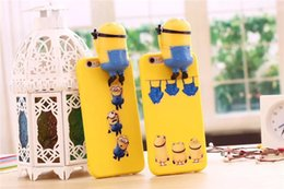 For Iphone X 8 Small yellow people's stereo mobile phone shell iPhone7 6S PLUS 5s Apple protection suit cartoon boy wholesale Free Shipping
