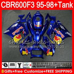 gloss blue 8 Gifts 23 Colors For HONDA CBR600F3 95 96 97 98 CBR600RR FS 2HM41 CBR600 F3 600F3 CBR 600 F3 1995 1996 1997 1998 blue Fairing