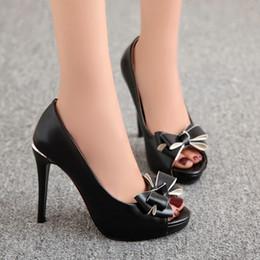 Promotion chaussures habillées pour les femmes prix Grossiste prix d'usine d'expédition libre PU nouveau style peep toes sexy talon haut femmes robe chaussure 193