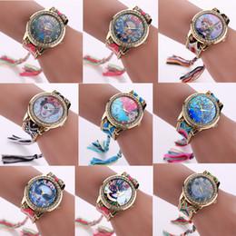 Wholesale 16 Styles Colors Luxury Lady Frida kahlo Watch Fashion Hand made Braided Quartz Wristwatch Women Bracelet Watches