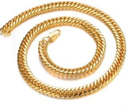 Wholesale 18 k gold plated Europe and the United States sell like hot cakes hot style domineering gold plated ruggedly intensive man necklace