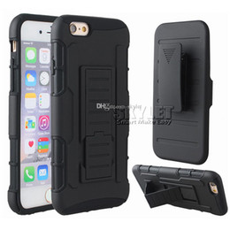 Wholesale For Galaxy S7 iPhone Hybrid Robot Case Armor Impact Case For Zmax Pro Z981 Coolpad With Belt Clip Holster Kickstand Combo Case OPP Package