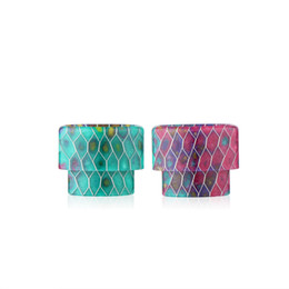 Newest Epoxy Resin Wave Drip Tips Colorful Wide Bore Mouthpiece For Kennedy Vaporizer Mods RDA Tank Atomizer E cigs Grid Drip Tip