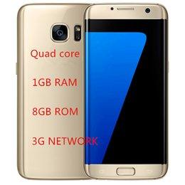 Pouces 1gb à vendre-Goophon S7 Edge Version s7 Téléphone Clone 5,5 pouces s7 Cellphone Metal Frame 1 Go RAM 8 Go ROM Quad Core DHL Free