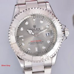 Wholesale Top Brand Rolex Oyster Luxury Perpetual Yacht Steel with Platinum Mens Watch Silver Dial Oyster Calendar Master Good Quality