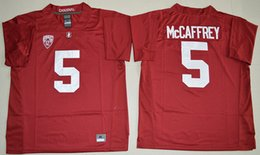 Wholesale 2017 New Christian McCaffrey Andrew Luck Stanford Cardinal College Football Limited Stitched Jerseys Red Black Color Drop Shipping