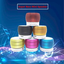 Wholesale S34U W Horn Aluminum Alloy Mini Super Bass Wireless Portable Bluetooth Speaker Support TF Card MP3 Music Hi Fi Sound Box PK S10 A10 S11 A8