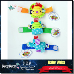 Wholesale 0 Months Soft Cute Baby Mobile Wristband Toy Wrist Strap toys Rattles Doll Early Educational Development