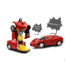 Wholesale The new electric car universal automatic deformation transformer robot toys for children
