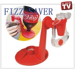 Wholesale New Coke Mini Upside Down Drinking Fountains Fizzy Soda Drinking Dispense Fridge Fizz Saver Gadget shipping by DHL