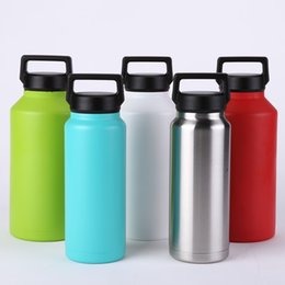 2017 Hot Cup Cooler Rambler Roller Carriage Beer Cup Double Wall Double Layer Vacuum Insulation 34 ounces 64 ounce Thermos