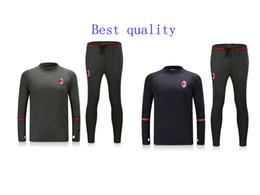 Wholesale Best quality survetement football AC Milan training AC Milan soccer tracksuits with AC Milan sweatshirts top pan