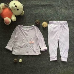 Baby Girls Clothing Pink Two Pieces Sets Long Sleeve Top+Long Pants Animal Pattern Bow Children Kids Sets