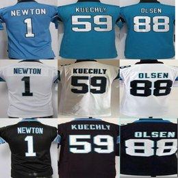 Wholesale Youth Jersey Cam Newton Luke Kuechly Greg Olsen Football Jerseys Stitched Name and Logo Free Drop Shipping