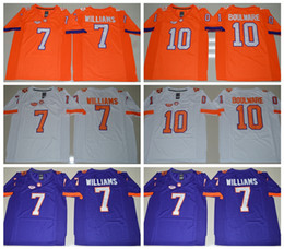 Wholesale 2016 NEW Mike Williams Jersey Clemson Tigers College Tajh Boyd Football Jerseys Men All Stitched Home Color Road Purple Orange