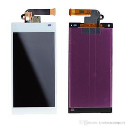 Écrans pourpres en Ligne-3pcs Pour Sony Z5 Mini LCD - écran d'origine blanc noir violet couleur clone écran LCD avec écran tactile Digitizer + cadre + outils de réparation