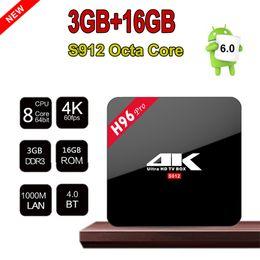H96 Pro Amlogic S912 64bit OctaCore Android7.1 TV Box 3G RAM 16G ROM Bluetooth Dual Band WIFI 3D 4K 10pcs UP