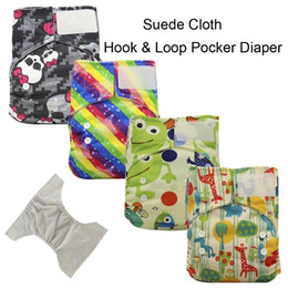 Wholesale Ohbabyka Hook Loop Fastener Cloth Diaper Cover Reusable Printed Baby Nappies Adjustable Newborn Baby Diapers with Suede Cloth