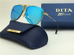 Wholesale Dita sunglasses new dita Decade Two sunglasses women brand designer metal square shape retro men design Usher oversize gold plated