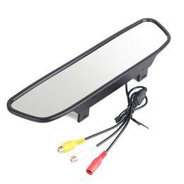 Véhicule auto 4.3Inch HD Rearview moniteur de rétro voiture électronique de secours inversé stationnement Mirror Monitor 2CH Entrée vidéo DC 12V à partir de moniteur de sauvegarde vidéo fournisseurs