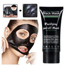 Wholesale SHILLS Deep Cleansing Black Mask Pore Cleaner ml Purifying Peel off Mask Blackhead Facial Mask Free DHL Shipping