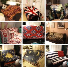2.3m*2.5m 15 style, diamond flower, American flag, starry sky, British flag, new geometry, sofa blanket carpet