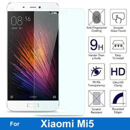 2017 m seguridad Venta al por mayor-Para Xiaomi MI5 5 Protector de pantalla de vidrio templado 9H 2.5 Película de protección de seguridad en Xiaomi5 Libra M5 Mi-5 M Cinco pelicula de vidro m seguridad limpiar
