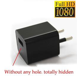 Acheter en ligne Spies caméras-32Go HD 1080P pas de sténopé Mini DV espion caméra cachée DVR mur AC chargeur caméra Nanny Spy USB adaptateur caméra portable DVR Survelliance Cam