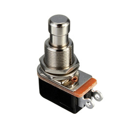 1pc SPST Momentary Soft Touch pulsador Stomp pedal interruptor de guitarra eléctrica Hot Sale desde el pie del pedal interruptor de la guitarra proveedores