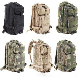8 color Sport Outdoor camouflage mountaineering bag 3p military Tactical Backpack laptop Molle Rucksacks Camping Trekking bag TOPB1914 5PCS