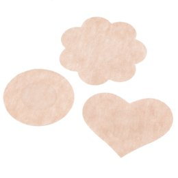 Ultrathin Womens Sexy Disposable Satin fabric Nipple Cover breathe freely Patch Breast Nipple Pad Sin bra Breast Pad Petals