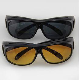 HD Night Vision Lunettes de soleil Wraparounds Wrap Around Glasses The Day Night Visor pour votre voiture 1 pièce / Retail box à partir de lunettes de soleil hd wrap fabricateur