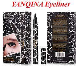 Wholesale YANQINA Eyeliner Women Girl Beauty Makeup Eyeliner Waterproof Extreme Black Liquid Pen Easy to Wear Long lasting VS NYX EYELINER PENCIL