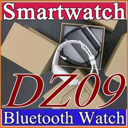 Wholesale 50X Smartwatch Latest DZ09 GT08 Bluetooth Smart Watch With SIM Card For Samsung IOS Android Cell phone inch DHL B BS