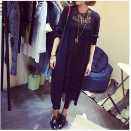 Promotion noir cardigan tricoté Grossiste-2016 Nouveau style femmes casual Sweet gris noir Crochet Knitted Blouse Long-manches Tops Femmes Longs Pulls Cardigans