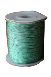 0.8mm Teal Green Rattail Braid Nylon Cord+Jewelry Findings Accessories Macrame Rope Shamballa Bracelet Beading Cords 200m roll