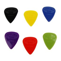 Descuento guitarra acústica de nylon Guitarra Durable Guitarra Eléctrica Acústica Bajo Plectro Transparente 1.0mm 2.0mm 3.0mm Alice100pcs Guitarra Eléctrica Selecciona Acústica Nylon