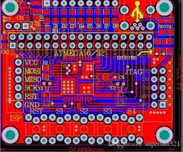 Atmega32 development board pcb file atmega32 Microsystem schematic and pcb AVR MCU xc6206p332 DIY Kit Free Shipping