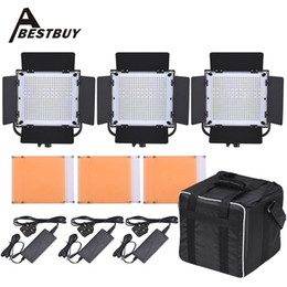 Wholesale LED A LED Video Light Panel Kit With LED Beads CRI90 K K Light Barndoor Filters Storage Bag Photography Set